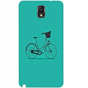Casotec Lets Cycle Pattern Design 3D Hard Back Case Cover for Samsung Galaxy Note 3 N9000