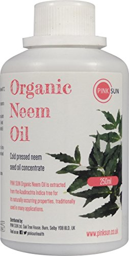 pink-sun-pure-organic-neem-oil-250ml-or-1-litre-cold-pressed-unrefined-concentrate-natural-insect-fl
