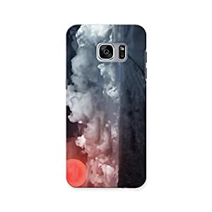 ArtzFolio Landscape With Big Sun : Samsung Galaxy S7 Matte Polycarbonate ORIGINAL BRANDED Mobile Cell Phone Protective BACK CASE COVER Protector : BEST DESIGNER Hard Shockproof Scratch-Proof Accessories