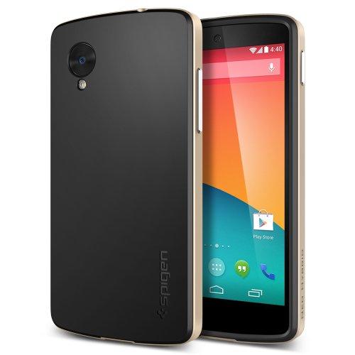 【国内正規品】SPIGEN SGP Google Nexus5 ケース ネオ・ハイブリッド (シャンパン・ゴールド【SGP10564】)