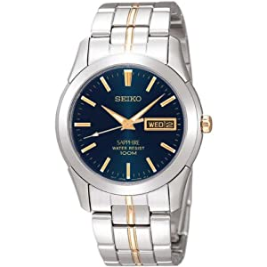 Gents Two Tone Seiko Quartz/Battery Watch on Stainless Steel Bracelet Sapphire Glass Day & Date SGGA61P1.