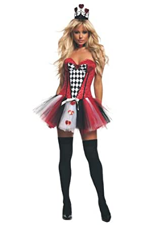 Starline Women's Feisty Queen Of Hearts Sexy Costume Set