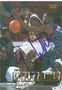 Eric Williams autographed Basketball card (Denver Nuggets)