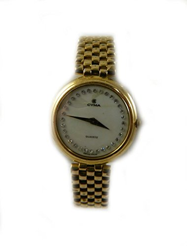 ladies-cyma-oro-e-perla-raso-intricate-diamante-orologio-al-quarzo-swiss-made