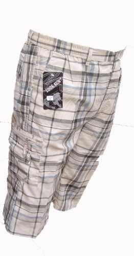 cargo casual style cool mens 3/4 check bottoms shorts COTTON NEW M - 3XL AWESOME