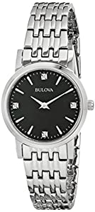 Bulova Women's 96P148 Diamond Gallery Analog Display Japanese Quartz White Watch