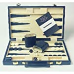 Backgammon in Faux Leather Carrying Case