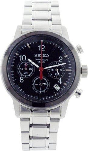 Seiko Chronograph Steel Mens Watch SSB011