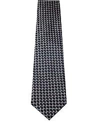 Navaksha Navaksha Dark Grey Tie With Squares