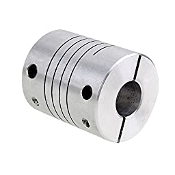 CNBTR 8x10mm Silver CNC Stepper Motor Flexible Shaft Coupling Coupler for Encoder