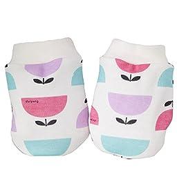 Dalpong Double Layers cotton Baby-girls Newborn Mittens Anti-Scratch Handguard Pink