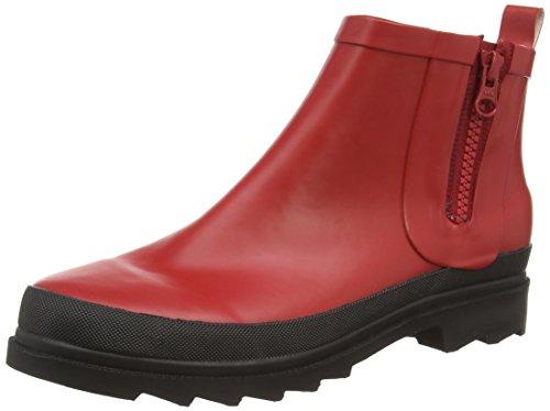 SanitaFiona Welly - Stivali in gomma a gamba corta, imbottitura leggera Donna , Rosso (Rot (Red 4)), 42