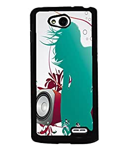 PRINTVISA Girl Enjoy Music Premium Metallic Insert Back Case Cover for LG L90 - D5848