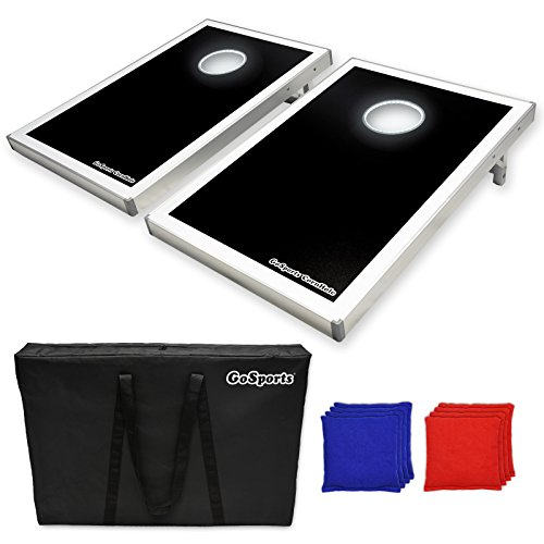 GoSports LED Light Up Cornhole Set, Tailgate Size (Flips Corn compare prices)