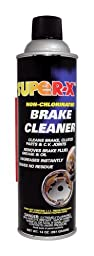 Super-X 830-12PK Non-Chlorinated Brake Cleaner - 14-Ounce Aerosol Can, Case of 12