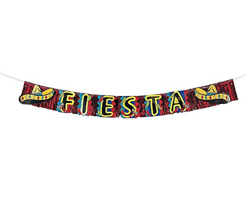 Fiesta Fringed Banner - Cinco De Mayo & Party Decorations - 1