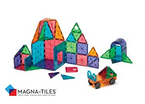 Magna-Tiles Clear Colors 48 Piece DX Set by Magna Tiles