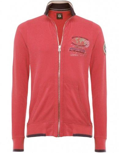 Napapijri Men's Sweater Red Bobar Zip-Through Sweatshirt M