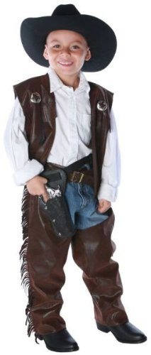 Cowboy Chaps Vest Child Large Costume
