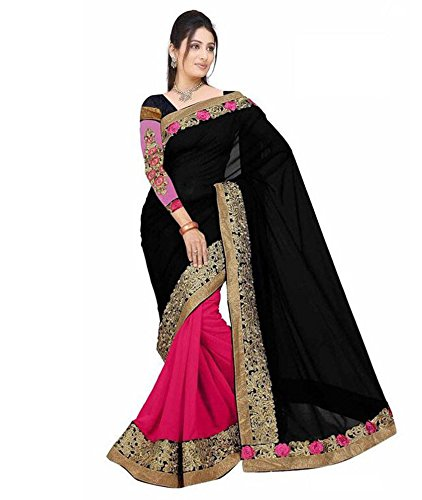Yashoda Textile Multi Color Georgette Printed And Border Work Sarees With Un-Stitched Blouse Piece (1y.s_514_Multi)
