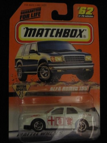 Alfa Romeo 155 (White) Matchbox Motor Sports Series #62 - 1