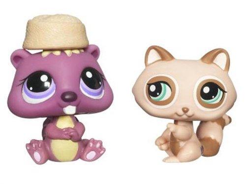 Littlest Petshop - Pet Pairs - 2-Pack - Raton Laveur #1409 & Castor Violet #1410