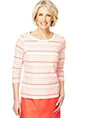 Classic Collection Pure Cotton Multi-Striped Top