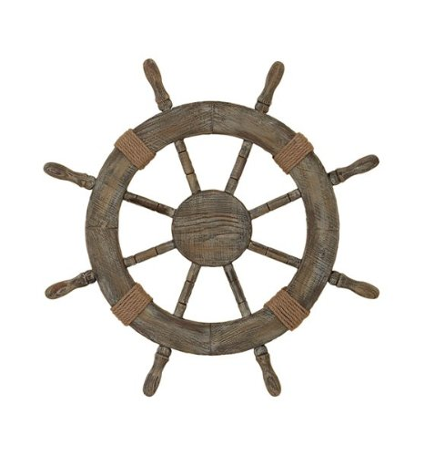 "Nautical Decor 24"" Wood Pirate'S Ship Wheel Marine Decor front-45001"