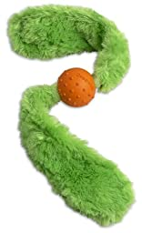 Doggles Green Tails / Orange Ball Dog Toy