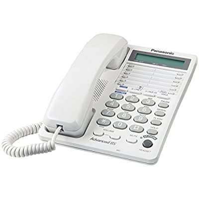 Panasonic 2-Line KX-TS208W Corded Phone (White)