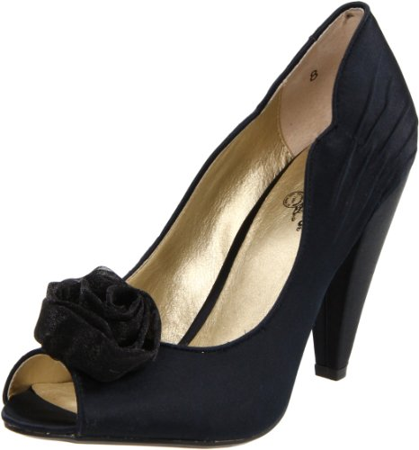 Seychelles Women's Just Because Peep-Toe Pump,Black,9 M US
