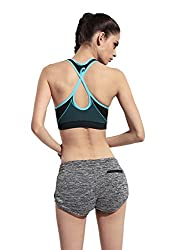 Athletic Vest Sports Bra Running Gym Fitness Unique Back Design Wireless Push Up Sports Bra