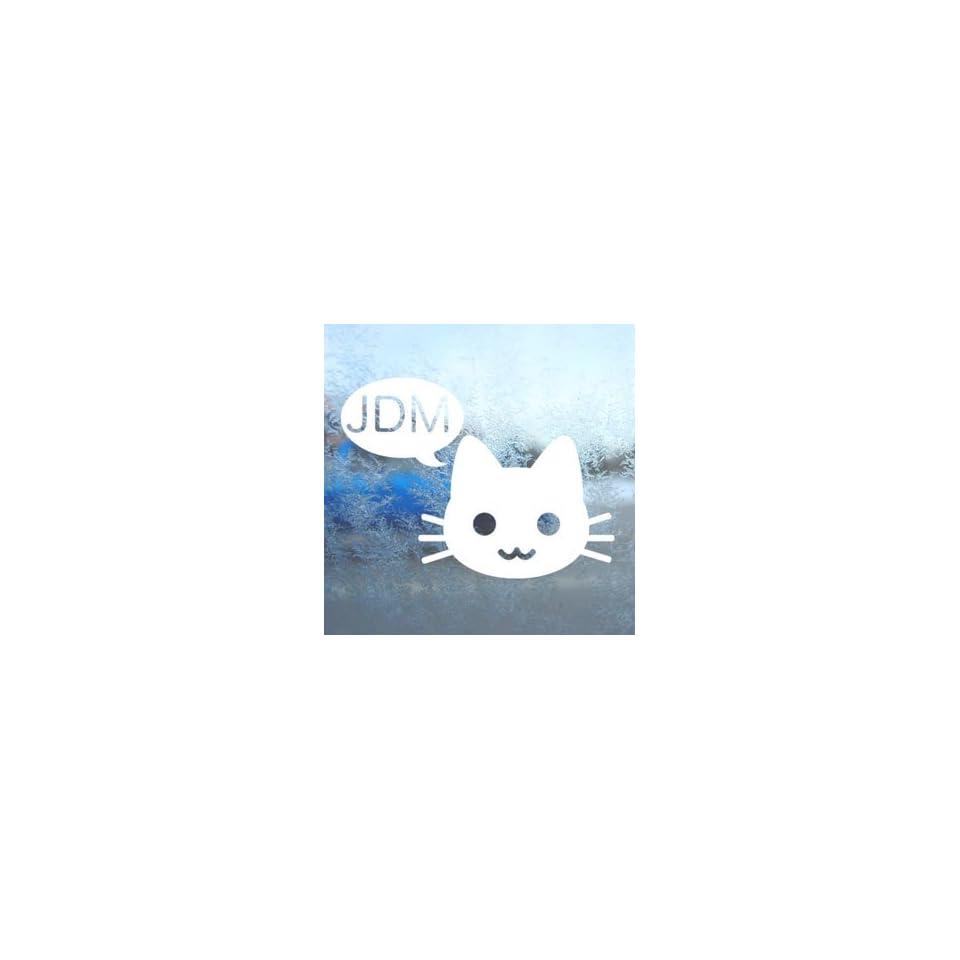 JDM Drift Cat 240SX Cefiro KE70 S13 White Decal Car White Sticker