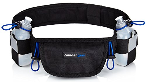 Hydration Running Belt by Camden Gear - Fits iPhone 6 Plus - with 2 BPA Free Water Bottles (Running Gear compare prices)
