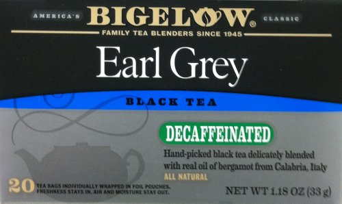 Bigelow Earl Grey Decaffeinated Black Tea - 20 Count (4 Pack)