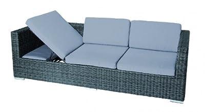 SICILIA Sofa Dreisitzer Multifunktionssofa zwei Bezüge zwei Farben ACAMP von Acamp - Gartenmöbel von Du und Dein Garten