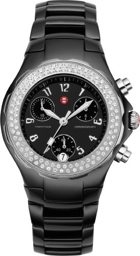 Michele-Womans-MWW12A000005-Tahitian-Ceramic-Black-Diamond-Watch