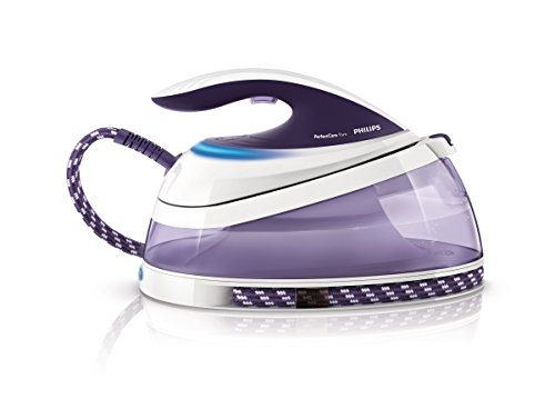 Philips GC7635/30 - Generador de vapor PerfectCare Pure con tecnología OptimalTemp y cartucho antical PureSteam, vapor continuo de 120 g/min, supervapor de 240 g, bloqueo de seguridad