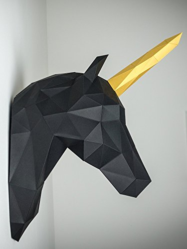 Papertrophy-unicorn-black-gold
