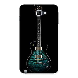 Enticing Greenish Print Guitar Back Case Cover for Galaxy Note