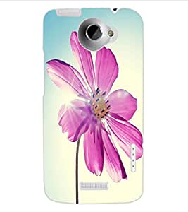 ColourCraft Lovely Flower Design Back Case Cover for HTC ONE X