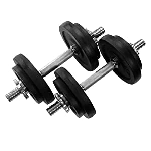 40 lbs Adjustable Cast Iron Dumbbells from Yes4All