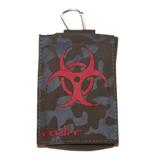 Insulin Pump Case - Camouflage with Biohazard Symbol