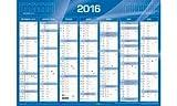 QUO VADIS - Calendrier de banque 2017 - format: 270 x 210 mm - bleu...