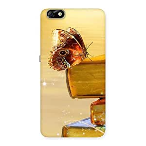 Book Butterfly Back Case Cover for Honor 4X