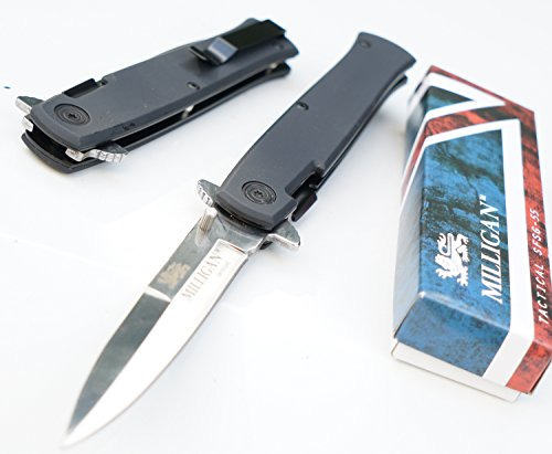 Milligan SFSG-55 :: Tactical Combat- Assisted folding knife - LIFETIME GUARANTEE*