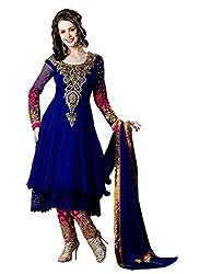 Dress Material by Sarees Fashion Women's Cotton Salwar Suit Dress Material(SRFH183_RS_Blue)