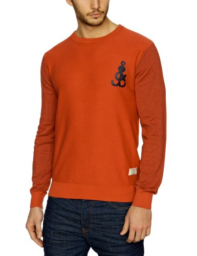 Jack and Jones Jonas O-Neck Knit Men's Jumper Baked Apple XX-Large