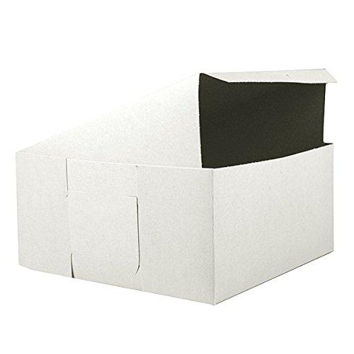 Southern Champion Tray 0987 Premium Clay Coated Kraft Paperboard White Non-Window Lock Corner Bakery Box, 12
