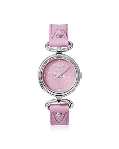 Versus by Versace Women's 3C67900000 Versus V Pink Calfskin Watch